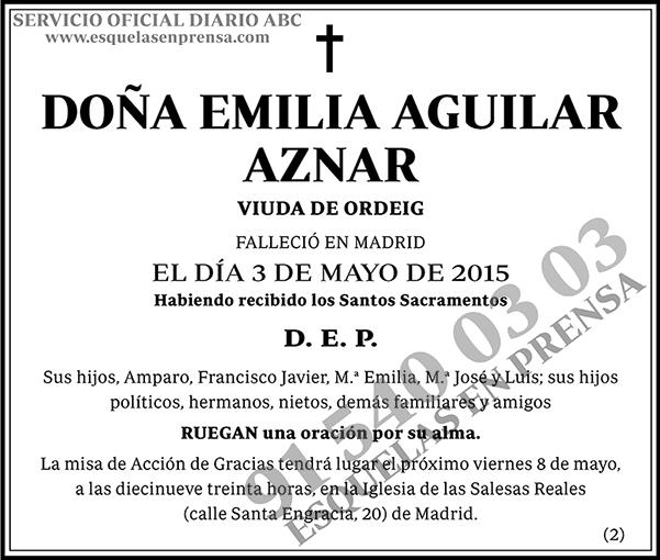 Emilia Aguilar Aznar